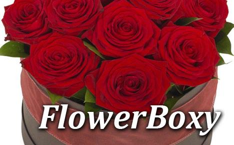 Kwiatowe pudełka - flower box - wyślij pocztą lub kurierem z dostawą do domu
