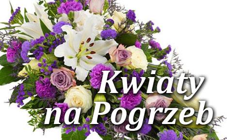 Kwiaty na pogrzeb online wiązanki wieńce kondolencyjne z dosawą na cmentarz  Żuromin